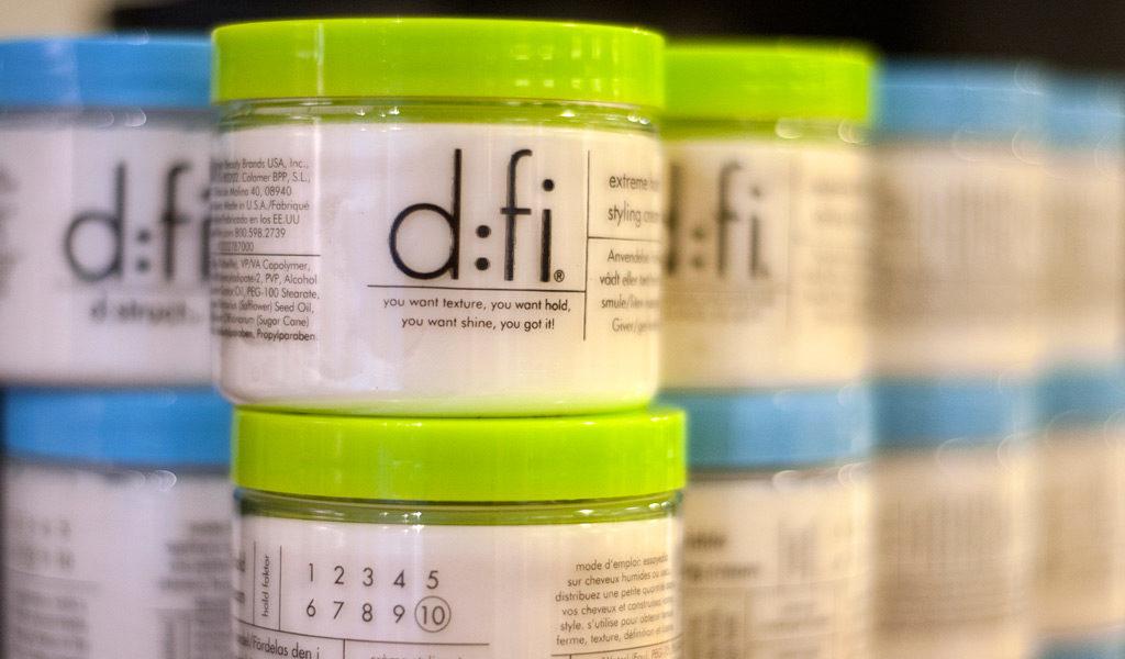 d:fi, hår produkter, Lycka Frisör & Butik